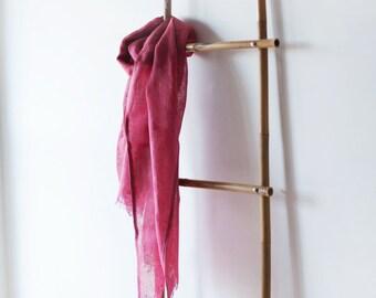 Linen Scarf / Hot Pink / Unisex Scarf