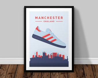 adidas Originals Spezial GT Manchester  |  TRAINERS Illustrated Poster Print   |   A5 A4 A3