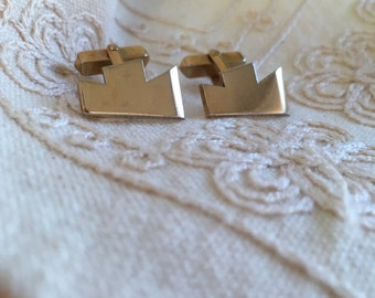 Vintage SWANK gold cufflinks, swank cufflinks, vintage gold cufflinks, mens cufflinks, cufflinks, vintage gold cufflinks C37