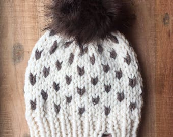 Knit Sweetheart Toque