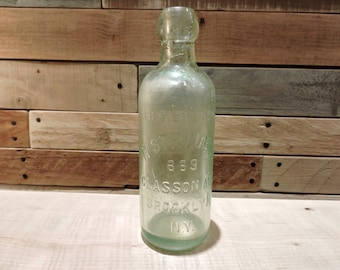 N Straub Co. 669 Classon Ave, Brooklyn NY. Vintage Bottle, Rare Find, Embossed Bottle