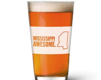 Mississippi Awesome Pint Glass