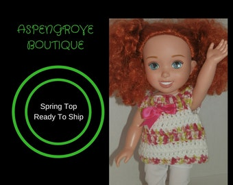14 inch doll top clothes handmade crochet ready to ship