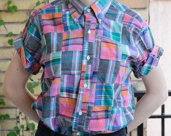 Unisex Patchwork Vintage Shirt