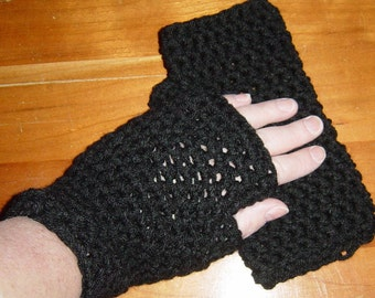 Womens Crochet Fingerless Gloves