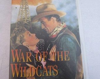 1943 John Wayne Pal Vhs Video Movie WAR OF The WILDCATS Martha Scott