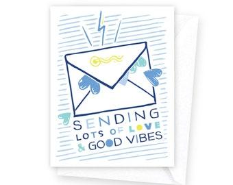 Sending Love & Good Vibes • single card