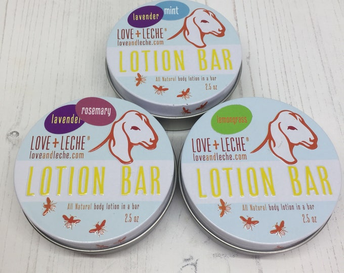 PRE-ORDER Love+Leche Lotion Bars in various different scents - 2.5oz tin of gorgeous ness