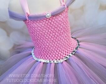 Customizable Princess Tutu Dress, Pink Lavender And Silver Tutu Dress, Easter Tutu, Pink Princess Dress, Pastel Tutu Dress, Easter Dress