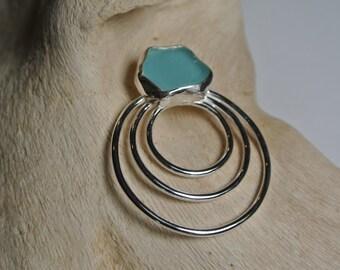 sea glass jewelry, Aqua sea glass, sea glass necklace,  beach glass jewelry, beach glass necklace, sea glass pendant, beach glass pendant,