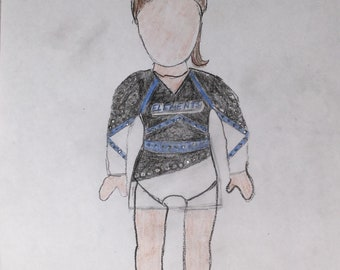 Las Vegas Elements, Custom doll cheer outfit, Reserved for Las Vegas Elements, Fits American.Girl doll, SELECT BACK OPTION