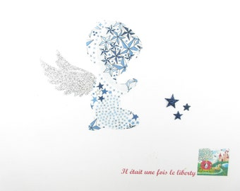 Applied Angel shape in your little boy who pray baptism communion glitter flex patch liberty applique iron-on fusible