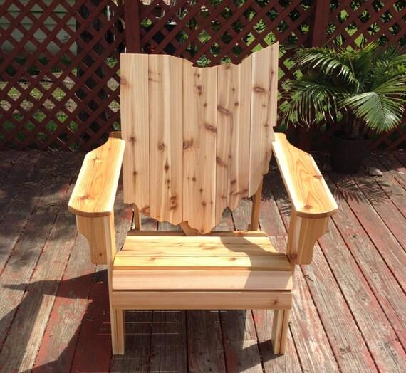 Ohio adirondack chair handmade wood furniture rustic cedar
