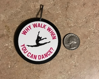 Dancer Book Bag Dance Bag Charm