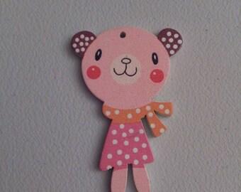 Miniature bear button up