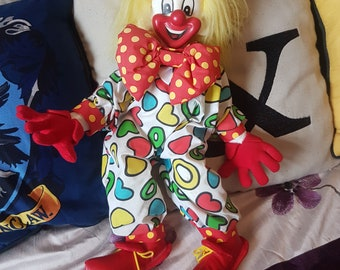 Vintage hard faced Clown Doll