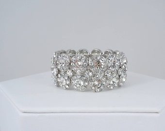 Rhinestone Bridal Bracelet, Stretch Bracelet, Wedding Bracelet, Bridal Bracelet, Rhinestone Bracelet, Stretch Bracelet, Petite Size