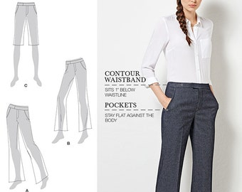 Simplicity Pattern 8056 Misses' / Women's Flared Pants or Shorts