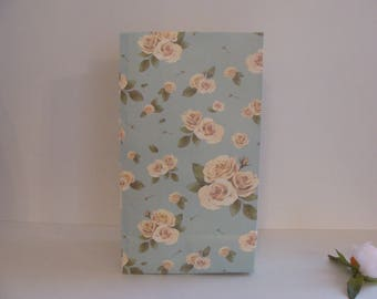 1 piece light blue paper bag gift wrapping floral 22.5 * 12.5 cm