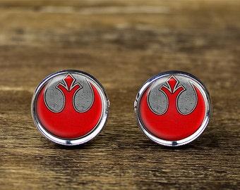 Rebel Alliance cufflinks, Star Wars Rebel Alliance cufflinks, Rebel Alliance jewelry