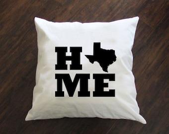Home State Pillow - Throw Pillow - Accent Pillow with Zipper Closure - 18 x 18 Throw Pillow - 24x24 Pillow - Lumbar Pillow - Home Decor