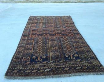 "2'2"" X 4'/ 67 X 123 cm Free shipping Turkish vintage rug pastel rug old rug anatolian rug  oushak rug small  rug"