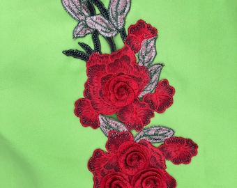 Fabric handmade embroider aplique Flower Patch sewing Diy crafts.