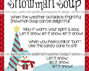 Snowman Soup Tag {3x3 square}