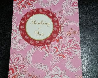 Thinking Of You Greeting Card with White Envelope