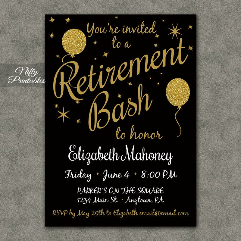 This is a picture of Canny Free Printable Retirement Party Invitations