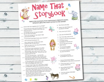 Baby shower game etsy for Baby shower game booklet template