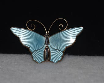Vintage DA Sterling Silver Butterfly Brooches