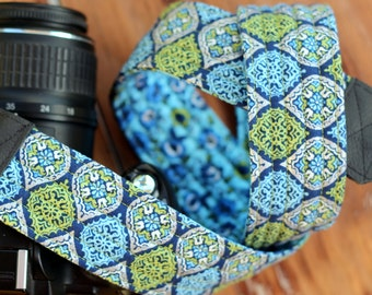 Womans Camera Strap, Floral Camera Strap, dslr camera strap, camera strap cover, nikon camera strap, canon camera strap, gift for her