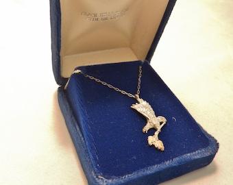 Black Hills Sterling Silver Eagle Pendant Necklace