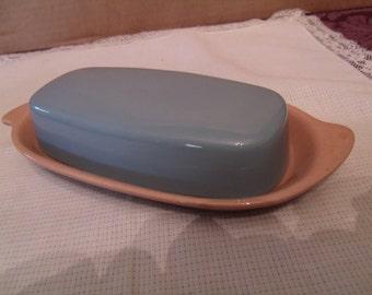 Vintage Glazed Porcelain Butter Dish, (# 330/12)