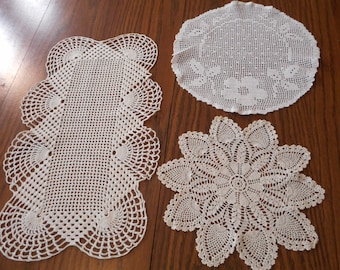 Vintage  Crochet Doilies - Perfect