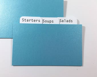 3x5 Lunar Blue Shimmer Recipe Card Dividers