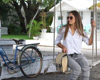 Gewachstem Canvas Leder Motorrad - Fahrrad Reisetaschen Set (paar)