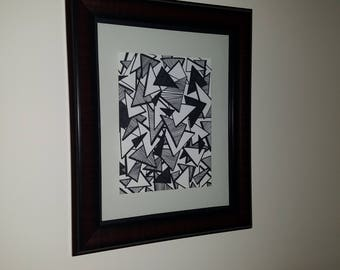 "Drawing: ""In Depth"" - 11"" x 14"" with Frame"