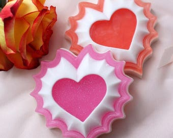 Heart Soap.Wavy Heart.Valentine's Gift,Wedding Favor,Party Favor