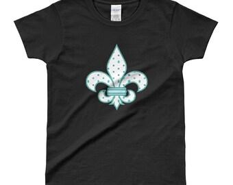 Fleur de lis T-shirt, Ladies Fleur de lis, Graphic shirt with Fleur de lis, Women's te with Fleur de lis graphic
