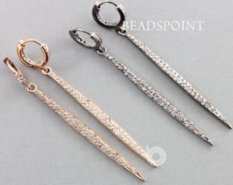 Pave Diamond Earrings, Pave Diamond Spike Earrings, Diamond Spike Earrings, Spike Earrings, (DER-142)