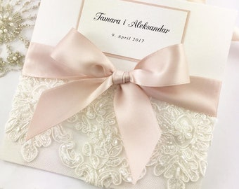 Lace Wedding Invitation Sample