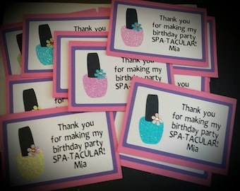 SPA PARTY Thank You Cards - Birthday Thank You Cards Set of 8