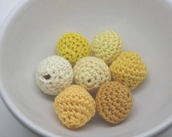 7 beads crocheted