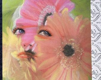 Romantic Blonde Daphne Groenveld Boho Flower Girl Art