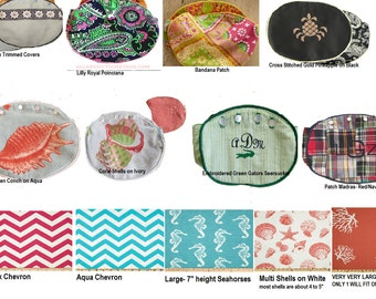 BERMUDA BaG COVErS-Choose Your Fabrics Read below! CUSTOM HANDMAde Reversible 80's Style Preppy Monogrammed Covers