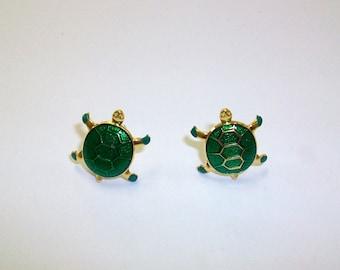 Vintage Turtle Earrings DEADSTOCK