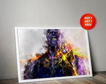 Thanos, Poster, Print, Infinity War, Evil,Villian,Marvel,Titan,Gift, Gift For Him, Gift For her, Captain America, Thor, Iron Man, Avengers