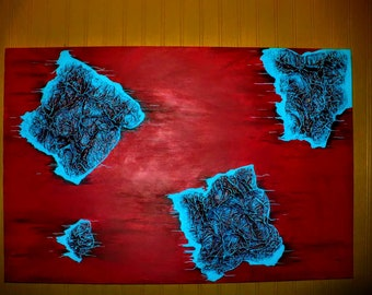 Cells: 3D Textured Canvas Painting